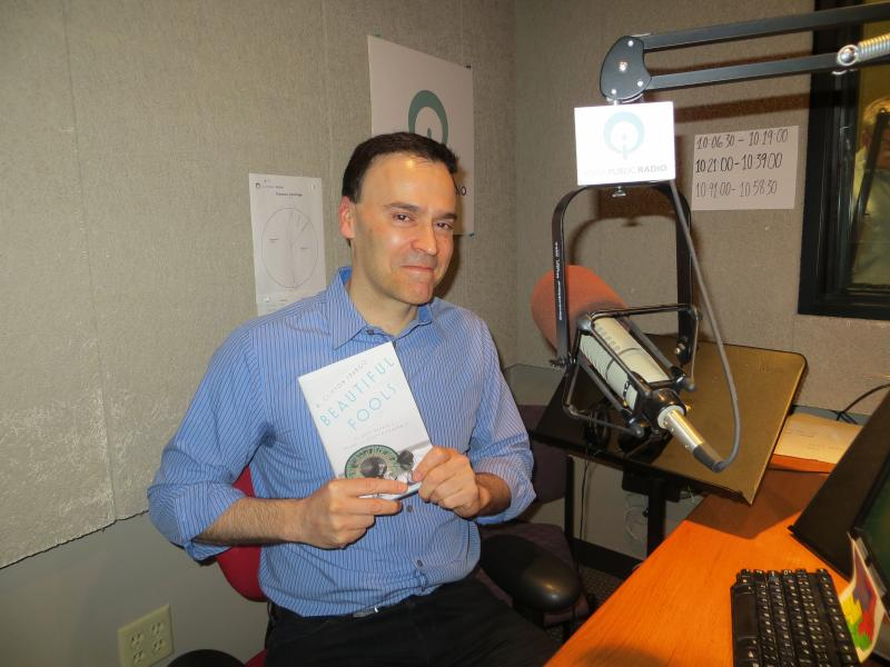 "Author R. Clifton Spargo with his new novel ""Beautiful Fools: The Last Affair of Zelda and Scoot Fitzgerald"" at IPR's Iowa City studio"