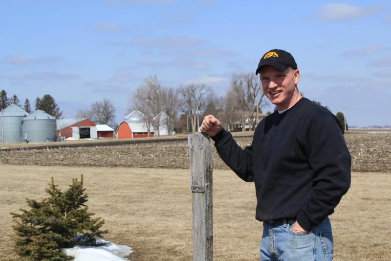 From his farm's headquarters in Nevada, Iowa, Mark Kenney can see his childhood home and farm. Not pictured, but also within sight, is the original piece of farmland Kenney's great-great grandfather bought, which is still part of the family farm.