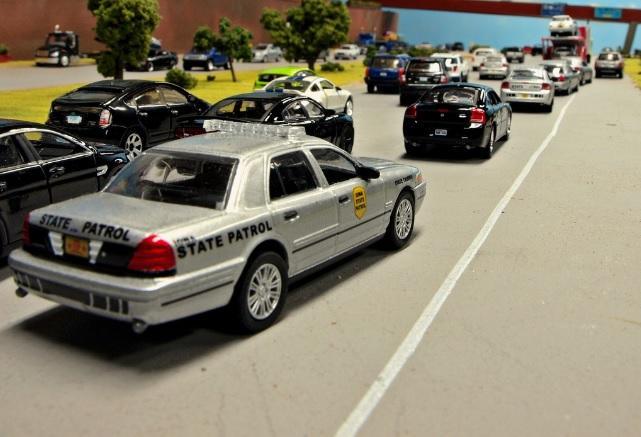 Iowa State Patrol Diorama