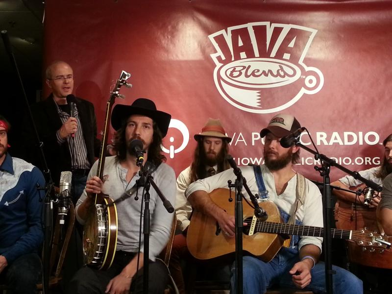 Host Ben Kieffer at a recent Java Blend performance with The Giving Tree Band, from Chicago