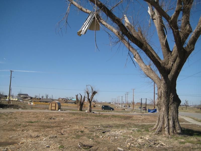 Empty lot in Joplin, where house once stood.