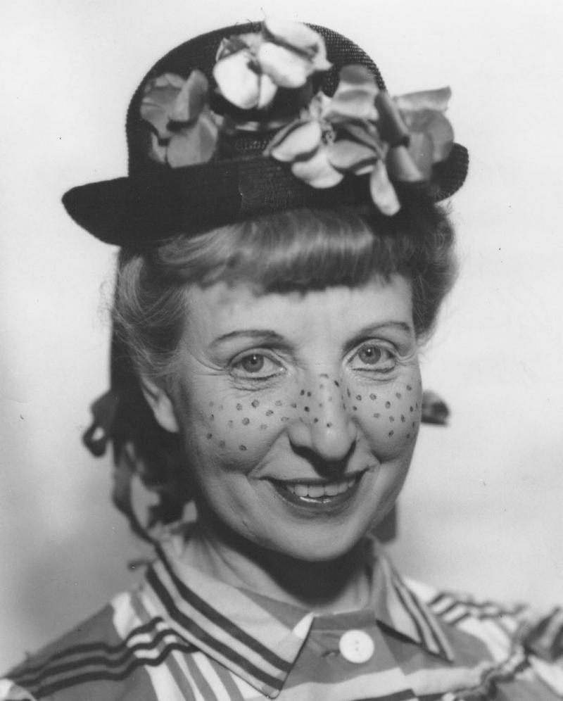 "Caroline Schaffner as the character ""Susie,"" 1952."