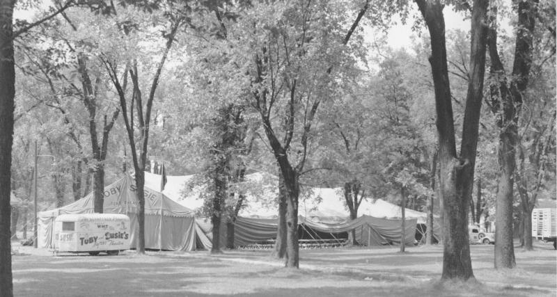 Exterior of The Schaffner Players tent, 1941.