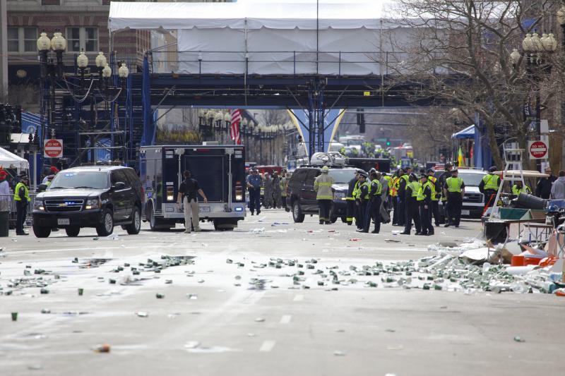 Copley Square after the Boston Marathon bombings, April 15, 2013.