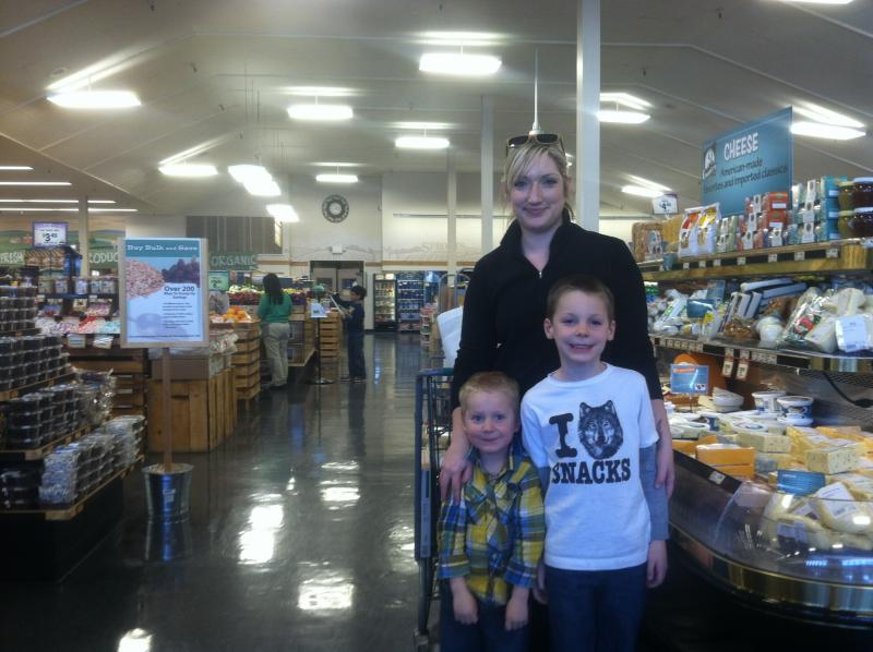 Kristin Mastre is the kind of influential shopper the potato industry is targeting, as she buys food for her family, including sons Carter and Logan.