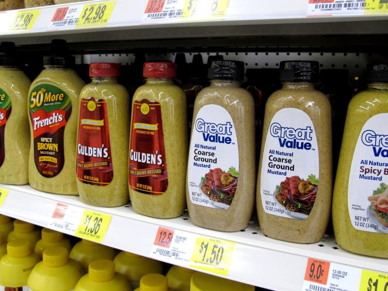 "Walmart's ""Great Value"" brand is an example of private label food. After acquiring Ralcorp, ConAgra is now the largest private label food supplier in the U.S."