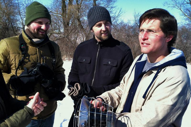 "Paul David Benedict, Scott Siepker, and Brandon Dunphy make short movies as the company ""Iowa Filmmakers"". They are on location for their short film titled ""Quiet Forest""."