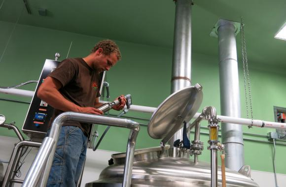 Zach Weakland is a co-founder of High Hops Brewery in Windsor, Colo., which takes the farm to glass mantra seriously.