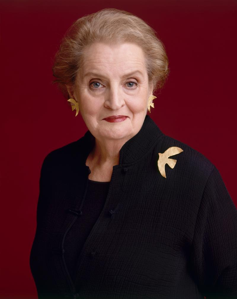 Former Secretary of State, Madeleine Albright.