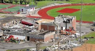 An EF5 tornado demolished the Aplington-Parkersburg High School