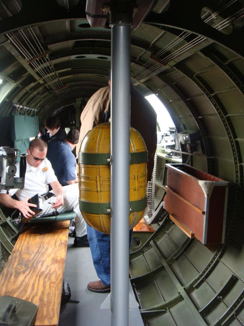 Inside the B17 bomber.