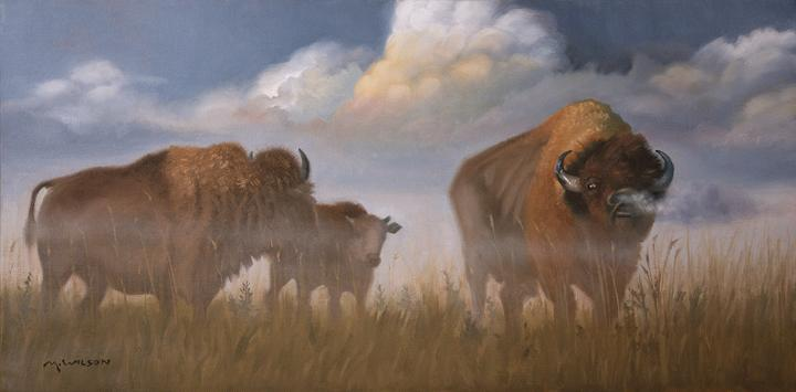 "Artist Michael Wilson spoke with Talk of Iowa about his collection of oil paintings ""Bison, Bison, Bison"" which details a year in the life of the bison herd at the Neal Smith National Wildlife Refuge in Prairie City."