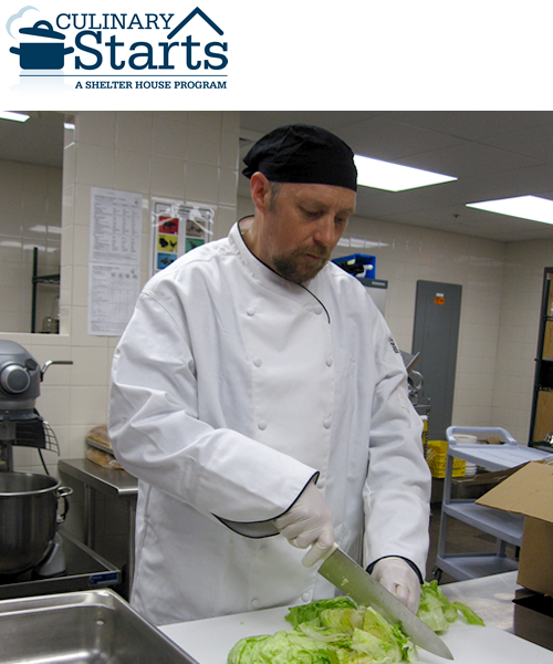 Thomas is the first graduate of the Culinary Starts Training Program