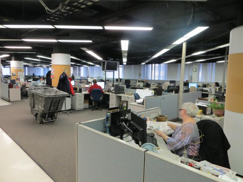 The 4th floor newsroom in its final weeks of covering Iowa.