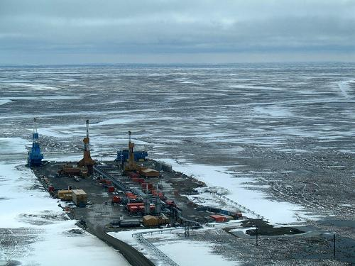 Oil Rig Worker is the #5 worst job on CareerCast.com's 2013 list.  This oil pad is on Alaska's North Slope.