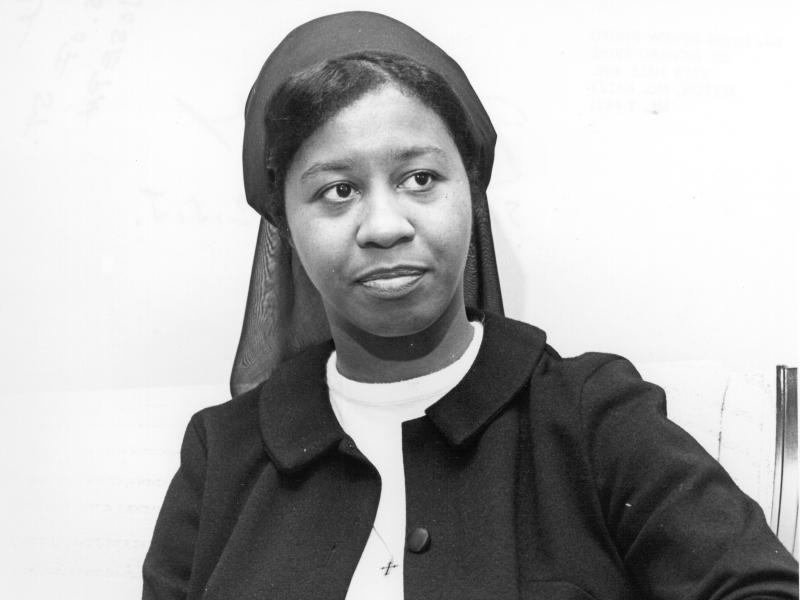 Sister Barbara Moore, of the Sisters of St. Joseph of Carondelet, was one of two African-American nuns went to Selma, AL in 1965 to stand with Americans marching for equal voting rights in the Jim Crow-era south.