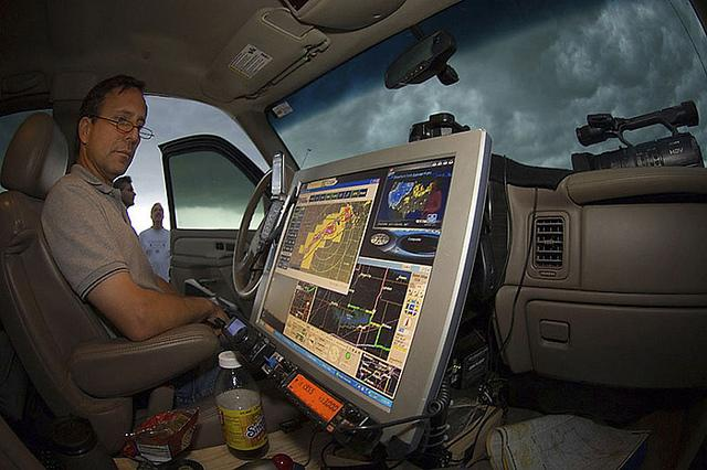 Storm chaser Tim Samaras at work