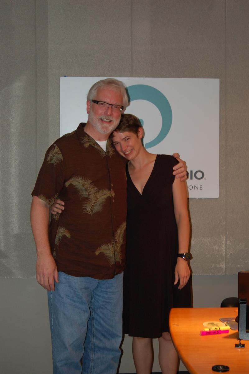 Pianist and composer Dan Knight and host Charity Nebbe in Iowa Public Radio's Iowa City studio.