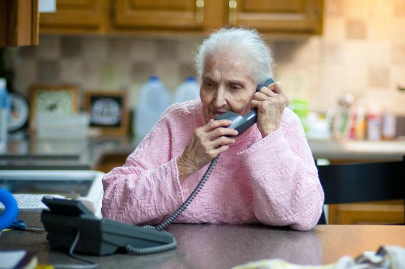 Marge Phelps, referred to as Gran by members of Westboro Baptist church, phones her husband. June 2011.