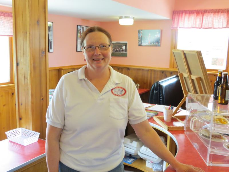 Sandii Huemann-Kelly runs the cafe and motel.