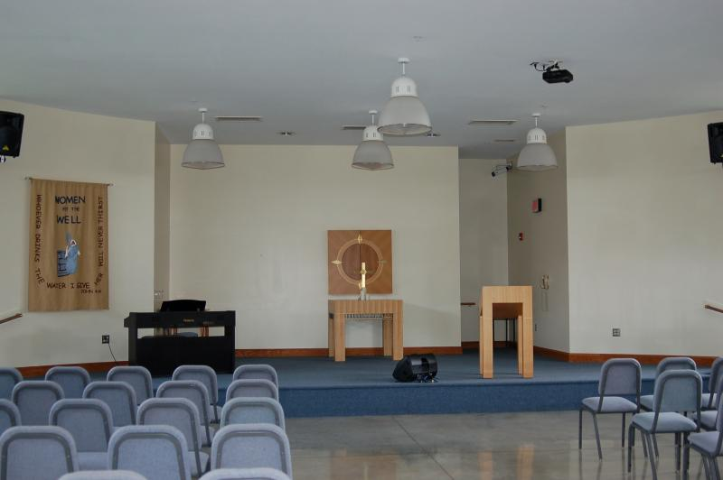 The chapel where the Women At The Well congregation meet in the Iowa Correctional Institution for Women in Mitchellville, IA