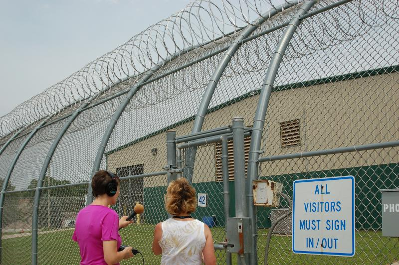 Host Charity Nebbe and Warden Patti Wachtendorf tour the Iowa Correctional Institution for Women in Mitchellville.