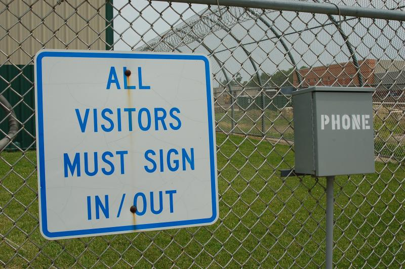 A sign at the Iowa Correctional Institution for Women in Mitchellville