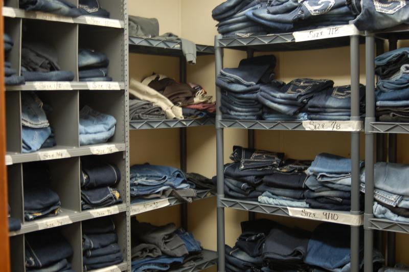 When leaving the Mitchellville prison women are furnished with a basic wardrobe that includes two complete outfits, a winter coat, three pairs of underwear, three pairs of socks, a bra, a set of pajamas, a pair of shoes and a purse.