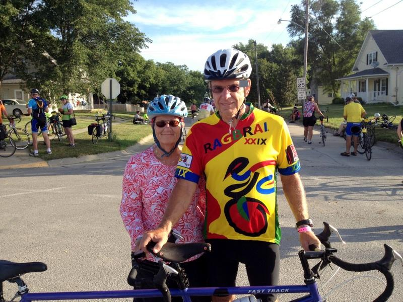 Bill and Sharon Harrington of Blue Grass Iowa have ridden the last thirty-five RAGBRAI's together