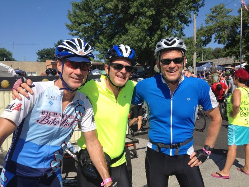John, Ben and Tim Kieffer.  Brothers riding their first RAGBRAI together.