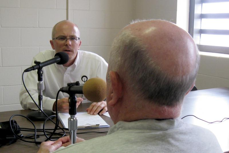 "Host Ben Kieffer talks with 74 year old offender ""Ray"" at the Oakdale Prison"
