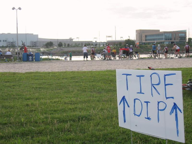Thousands of riders followed signs to the Missouri River to dip their rear tire before crossing the state