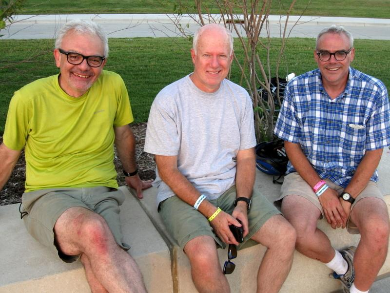 "NPR's Don Gonyea, Brian Naylor, and Scott Horsley, also known as ""Team No Pie Refused."""