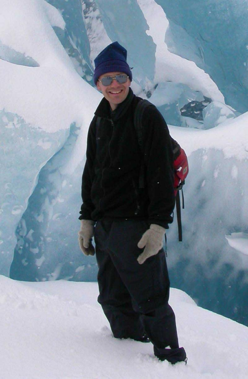 Neal Iverson, Professor and Smith Family Foundation Departmental Chair of Geological and Atmospheric Sciences, in Norway.