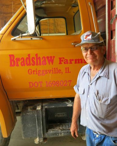 At 74-years-old, farmer Phil Bradshaw is still a familiar face on the civic scene in Pittsfield, Ill.