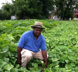 As a child Robert Harris Jr. worked picking cotton. Now, he's back out in the fields, this time growing produce for the needy.