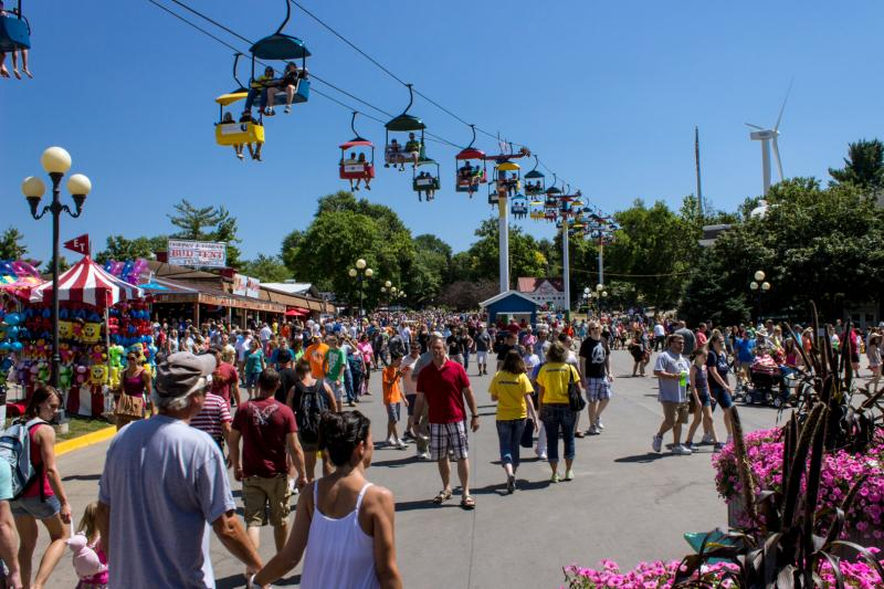 The Iowa State Fair averages more than one million visitors each year.