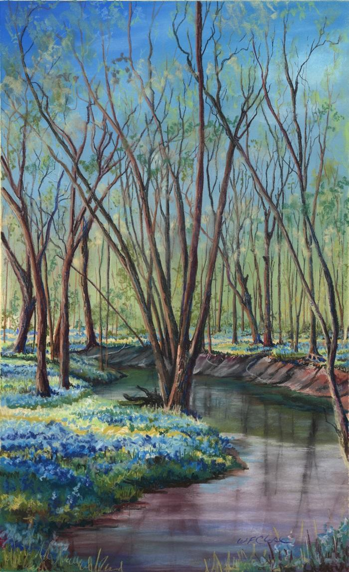 Iowa landscape, Bluebells print