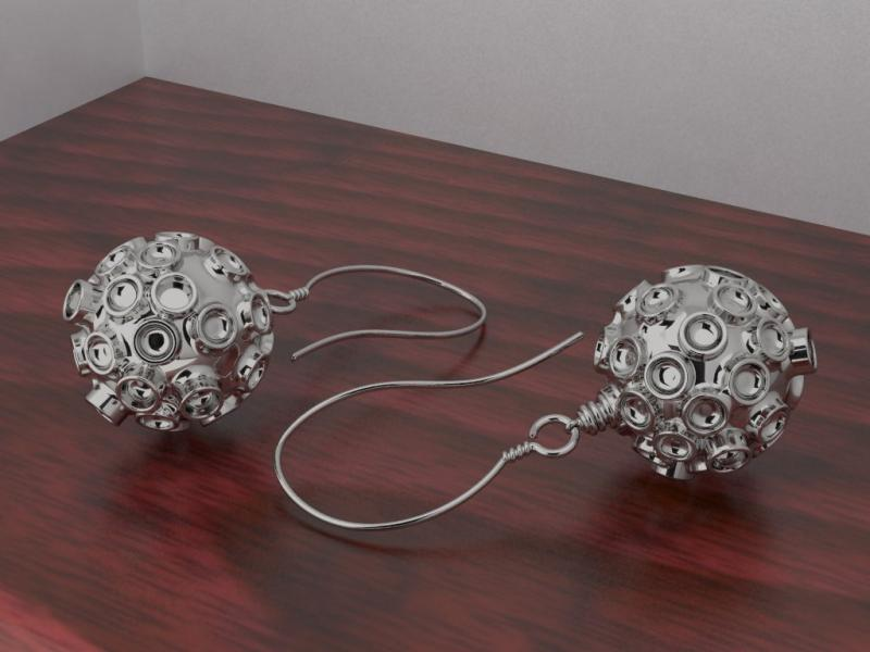 Encephalitis earrings