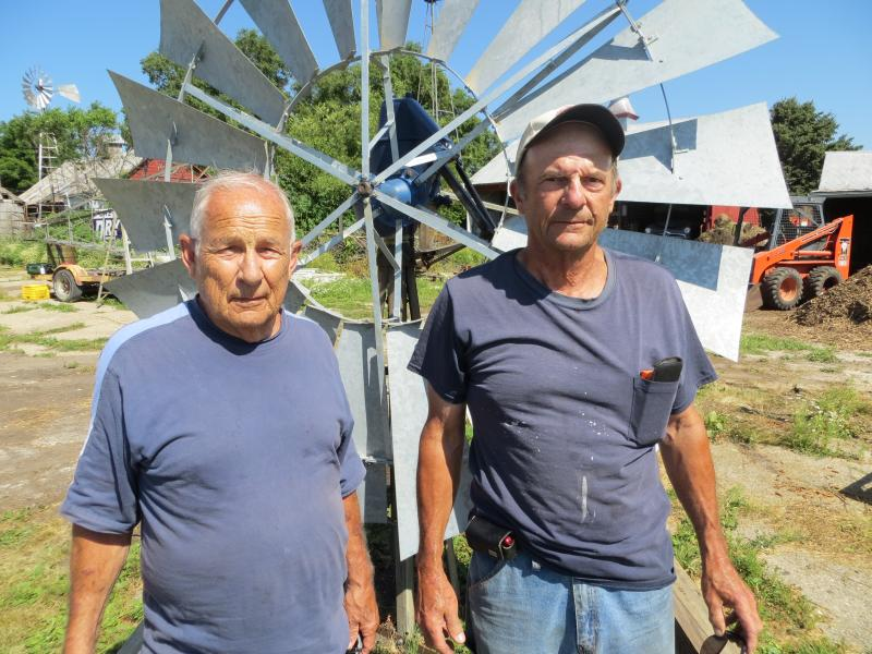 The Windmill Wizard (right) is Jim Boll, with his friend Gary Stanford.
