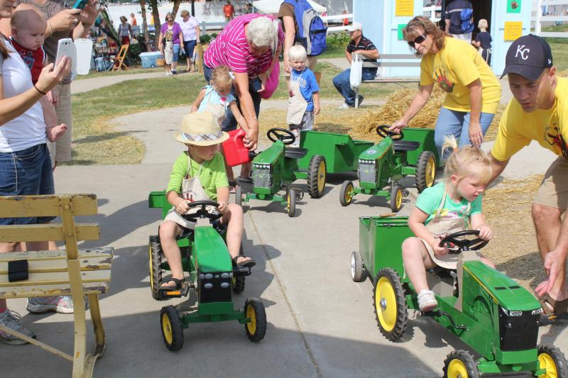 The Little Hands on the Farm exhibit is a big draw for kids at the Iowa State Fair.