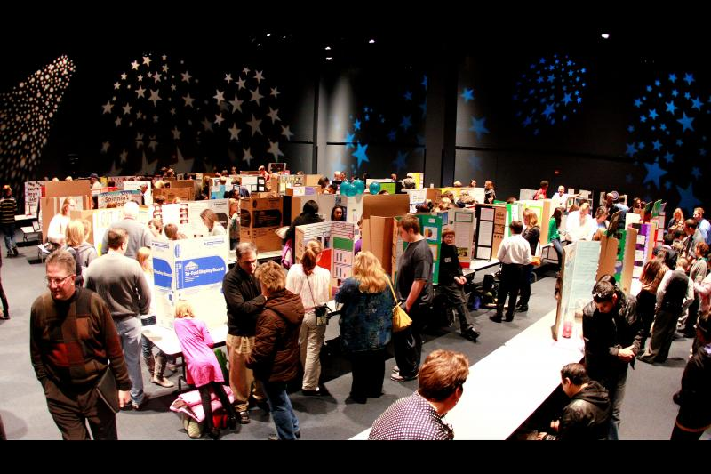 Des Moines Middle School Science Fair in February 2012.