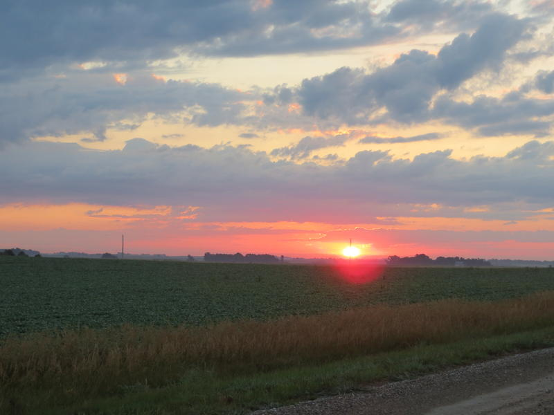 Sunrise near Hendrickson Marsh in Story County