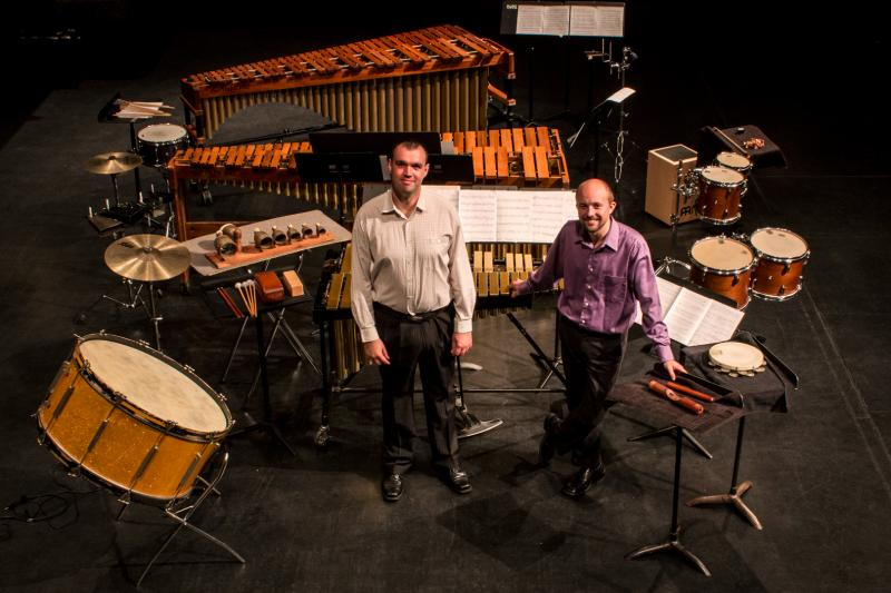 "Gabor Palotas and Matthew Andreini commissioned 3 Iowan and 3 Hungarian composers to write music for the ""Iowa / Hungary Percussion Project"".  In June they completed a Hungarian tour and for one week in September they are performing the new music in Iowa."