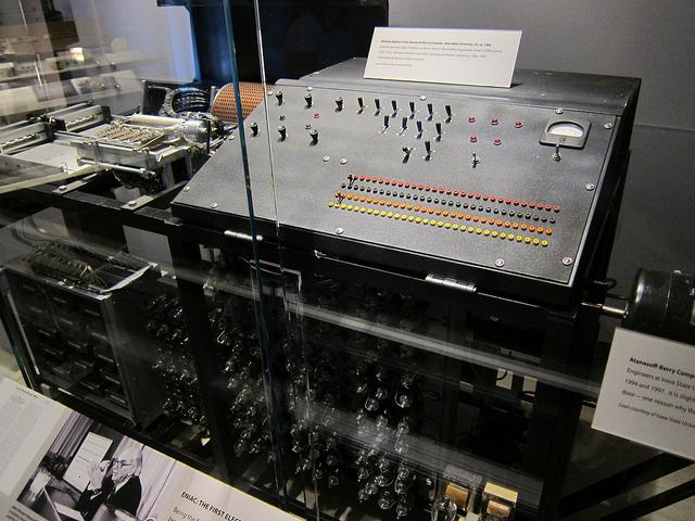 A working replica of the Atanasoff-Berry Computer, the first digital computer, invented at Iowa State University by John Atanasoff and Clifford Berry