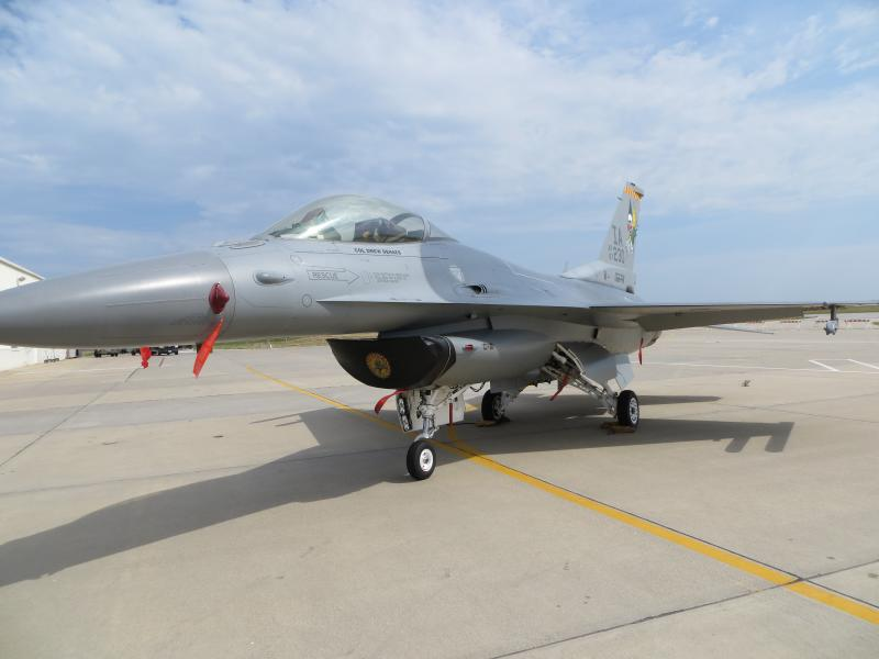 The wing commander's F16