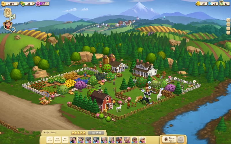 In the Facebook game Farmville 2, players create their own farms. Like real farmers, players plan their moves based on policy.