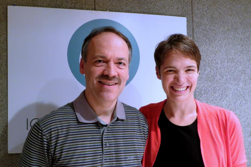Will Shortz and Charity Nebbe