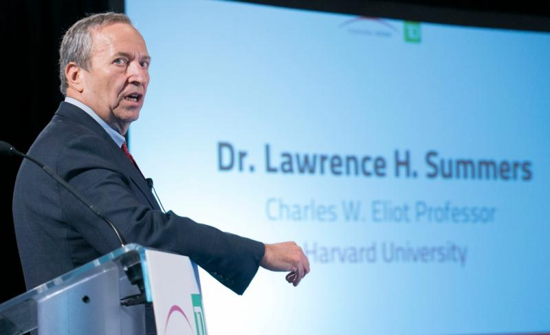 Former Treasury Secretary Larry Summers delivering a Canada 2020 lecture in Ottawa, CA on Nov. 6, 2012.  Summers withdrew his name for consideration as chair of the Federal Reserve on Sept. 16, 2013.