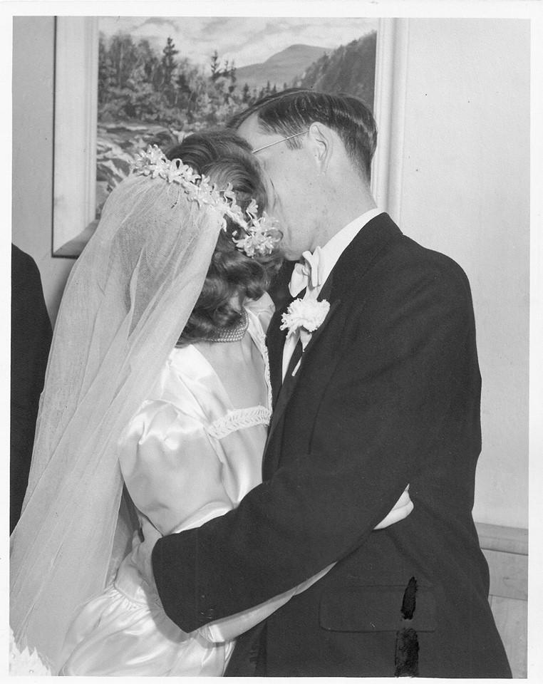 Richard and Peggy Snyder at their wedding in November 1949
